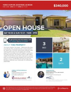 Open House Alert OCT 20TH and 21ST, 11 – 3, 3bd, 2ba +den 2195 sqft $340k
