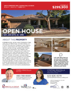 Open House Sat, Jan 25th, 12 – 3pm, 5397 N ORMONDO WAY, Litchfield Park, AZ