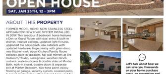 Open House Sat, Jan 25th, 12 – 3pm, 5397 N ORMONDO WAY, Litchfield Park, AZ